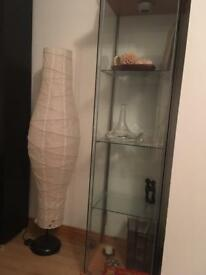 Tall glass cabinet IKEA