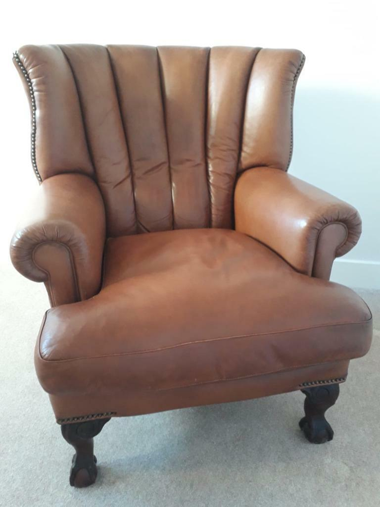 Chesterfield Tetrad Blake Wingback Armchair In Tan Brown ...