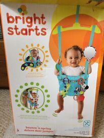 Baby door bouncer bright starts