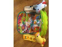 Fisher Price baby to toddler play gym with musical toys excellent condition