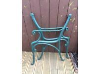 Cast iron bench chair ends garden furniture