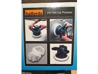 Car polisher new in the box from Hanford +car polisher on the battery 18v