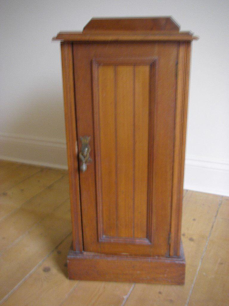 Antique Victorian Bedside Cabinet Cupboard