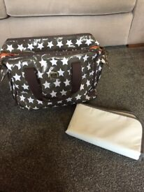 Caboodle mink star nappy bag and mat. Great condition.