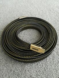 7m Premium Gold v2 High Speed 2160p Gold HDMI Video Cable HD HDTV Lead 3D