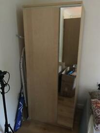 Ikea wardrobe with mirror