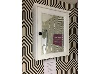 White mirror cabinet Ex display