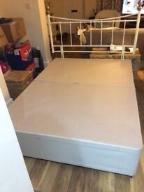 Double Bed Base and Headboard, No matress from Bensons for Beds