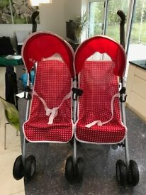 Silver Cross Pop Duo Doll's Stroller in Red