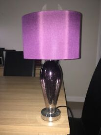 (Next) Small Purple Table Lamps x2