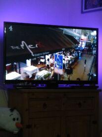 "Samsung 50"" TV, Amazon fire stick & led remote control lights"