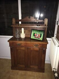 Small traditional sideboard in dark wood