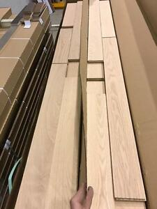 Unfinished hardwood red oak ,maple or birch flooring 2.99$/sf