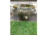 Large antique garden urn