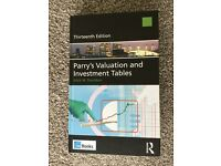 Book: Parry's Valuation and Investment Tables