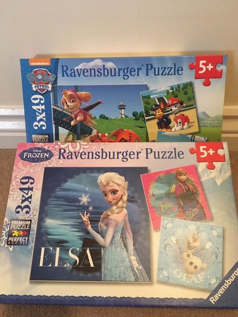 Paw patrol and Frozen jigsaws both for £5