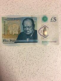 5 pound note AA40
