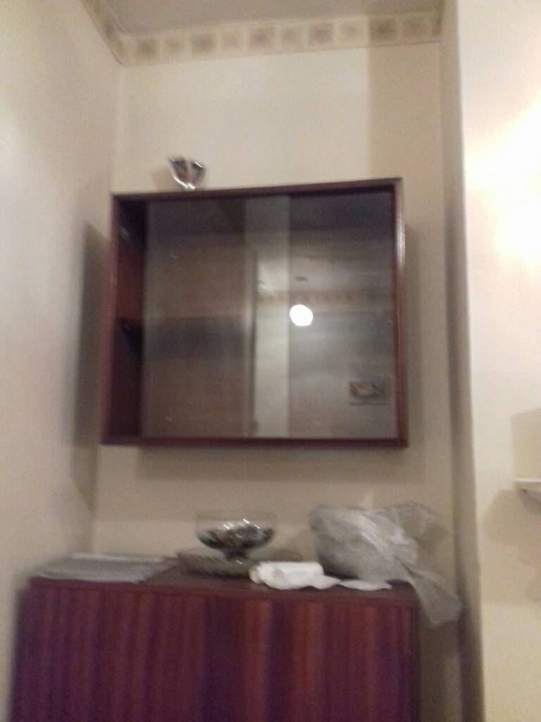 Glass display cabinets. Wall unit. Solid wood