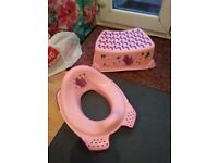 Childs toilet seat and step
