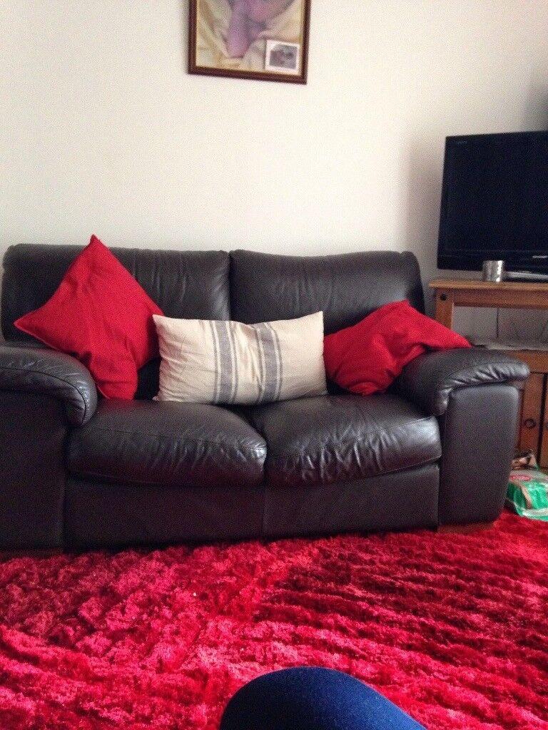 32 Brown Leather Sofa 30