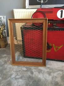 Chicken wire frame in gold notice board picture display