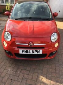 Fiat 500 Red soft top