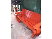 garden 2 in 1 foheavy duty folding bench seat