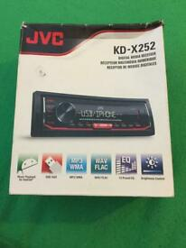 JVC KD-X252 - Digital Media Receiver MP3 Front USB AUX Input Stereoboxed with instruction