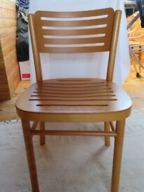 4 beech dining chairs