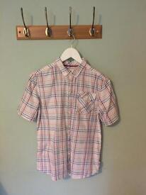 Multicoloured checked boys shirt