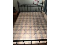BED FRAME QUEEN SIZE + MATTRESS