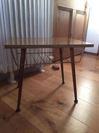 Retro side table with Dansette legs
