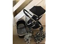 Icandy peach stroller with carrycot