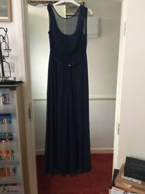 Gorgeous navy blue bridesmaid/prom dress size 14
