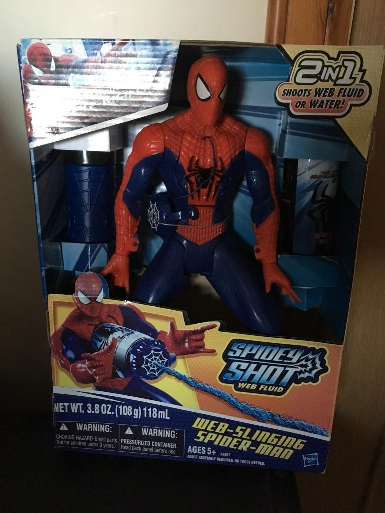 Brand New Boxed Spider-Man Spidey Shot Web Toy