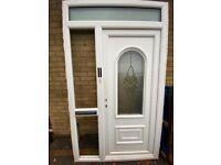Upvc front door with frame