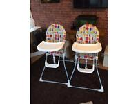 Two mamas n papas high chairs