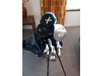 full set golf clubs , bag and stand.