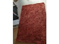 Burnt orange rug
