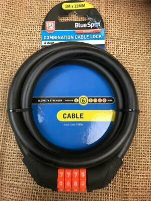 CLEARANCE LOT 77076 COMBINATION CABLE LOCK 4 DIGIT BIKES GATES BINS CYCLES...