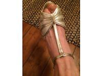 Rainbow Club Ivory Wedding Shoes size 6