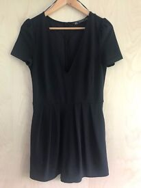 Black Zara Playsuit with Skirt over the top, Size M