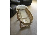 mama and papas moses basket good condition £20.00 - rocking stand
