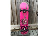 Bam Margera Skateboard With Ace Trucks, Death Skull Wheels & Bearings