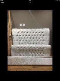 Crush velvet king king size bed BRAND NEW