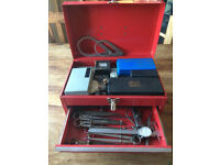 lathe Milling Machinists Tools Moore & Wright etc & Tool box