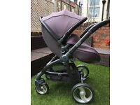 Storm Grey Egg Stroller with carrycot