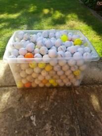 Well over 500 Golf balls..