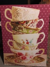 Large Next Teacups canvas