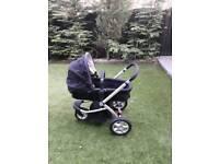 Mothercare buggy Pram maxi cosi car seat 3 big wheels